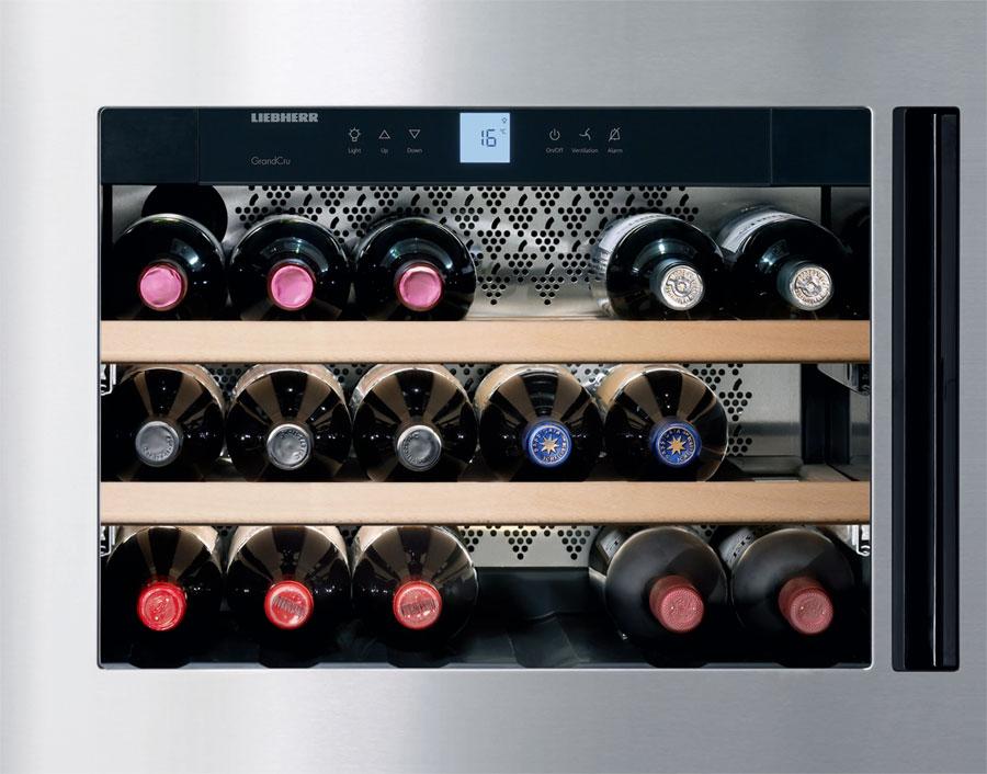 wkees 553 built in wine cabinets grand cru liebherr armoire vin. Black Bedroom Furniture Sets. Home Design Ideas